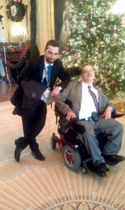 Matthew Colford with his friend and colleague Matt Shapiro from the President's Office of Disability Outreach.