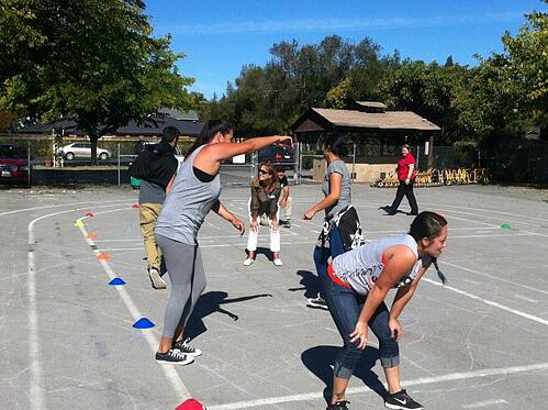Our extended care/recess staff was asked to participate in elementary school games and to personally experience the benefits of play.