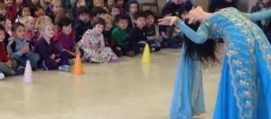 Children were in awe of Fatima's tricks.