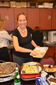 Arts Night Food Chair Lisa Surwillo pauses to smile for the camera.