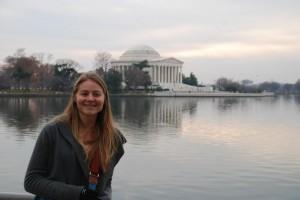 Zoe Kornberg in D.C. during her White House internship.