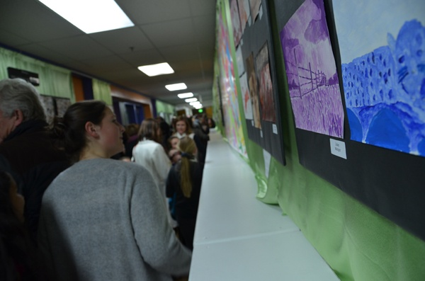 The Cohn Campus hallways were filled with admirers of our students' artwork.