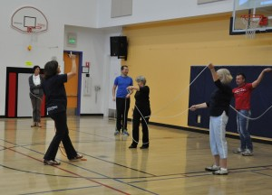 group rope swing