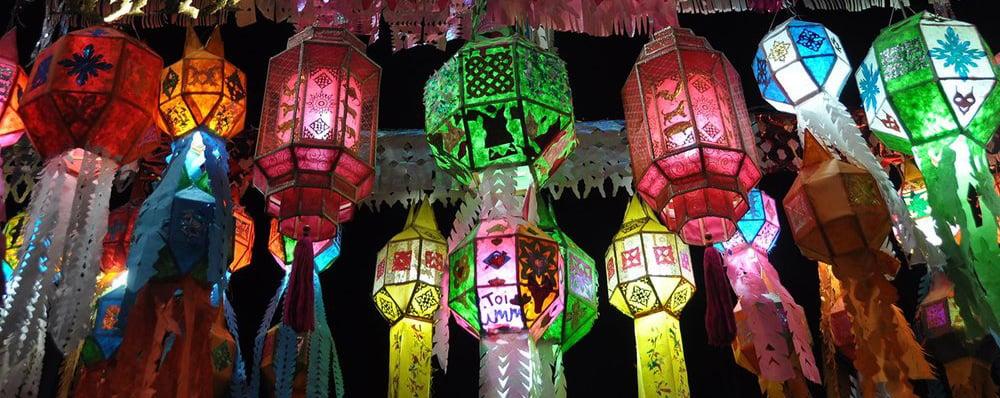 Yi+Peng+Loy+Krathong+Chiang+Mai+Thailand+Lanterns